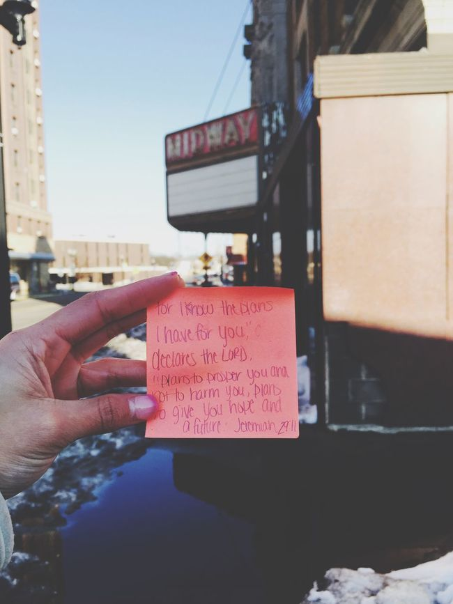 I took this picture downtown. I went to spread positive vibes in the area I knew needed it. I left this post it note there, drove past a couple weeks later to see guys turning on the lights to this old, out of business movie theater. I don't know if my note helped put the idea in mind and I really don't care. It's was so beautiful to see the lights glowing and the looks on everyone's faces walking by. 😊 Be The Change Make A Difference God GodBless