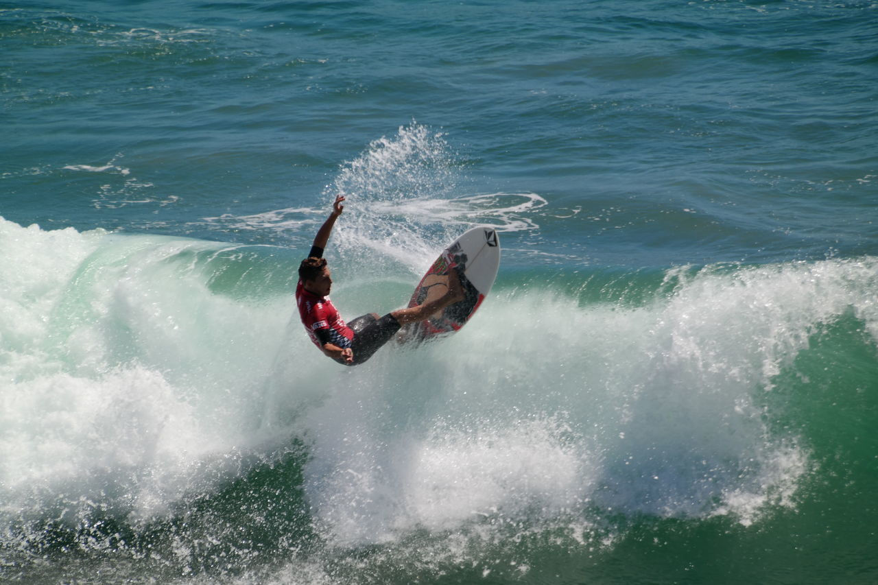 Adventure Competition Extreme Sports Huntington Men Motion Outdoors Sea Splashing Sports Surf Surfboard Surfer US Open Surfing 2015 Water Wave