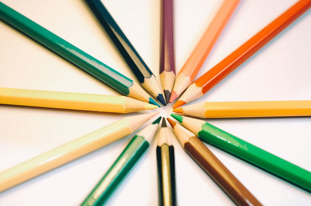 Center Colors Colseup Pencil