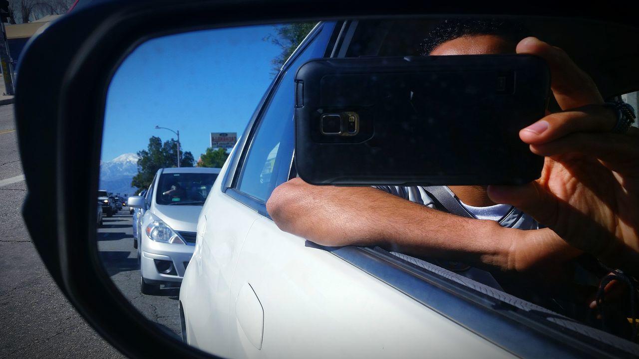 Cars, Street, Mountain, Cellphone
