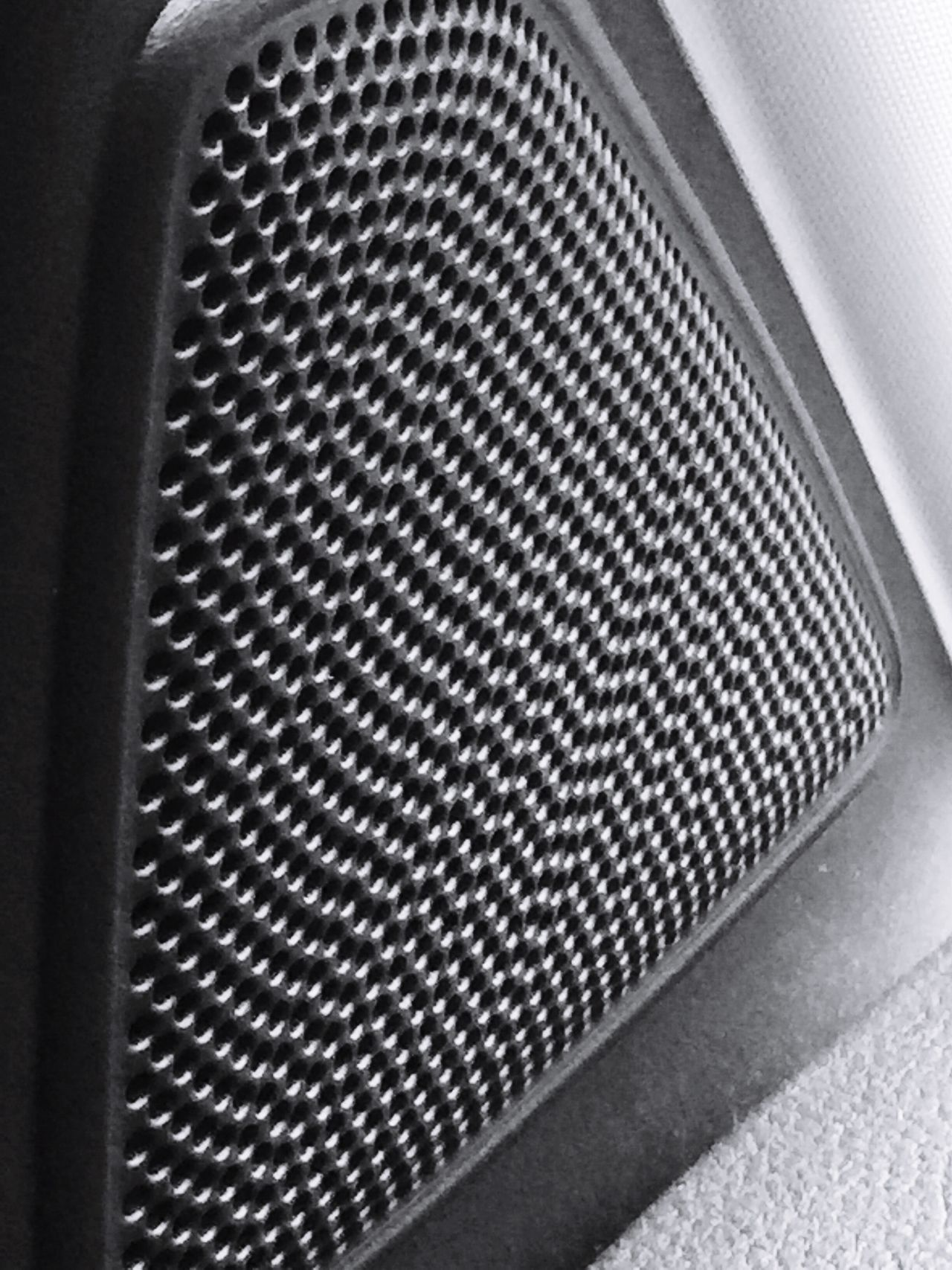 Indoors  Metal No People Close-up Car Interior Speaker Grill Vehicle Vehicle Part Blackandwhite Photography Perforations Grooves Patterns & Textures EyeEmNewHere