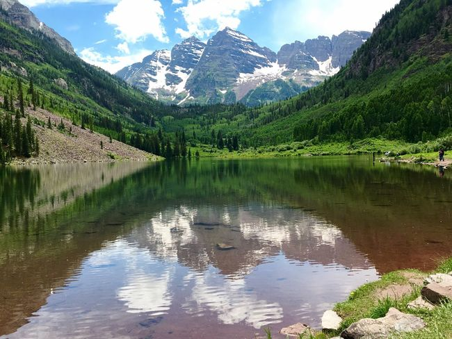 In awe of this unbelievable place. Nature Maroonbells Aspen Colorado Beautiful Beauty In Nature Aspen, Colorado