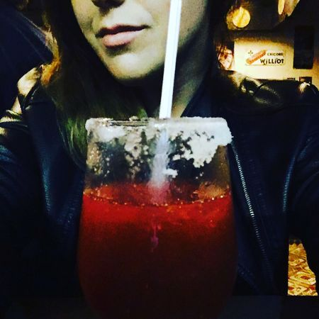 #daiquiri #drink #smile Adult Close-up Cold Temperature Drink Food And Drink One Person One Woman Only Only Women Red Refreshment