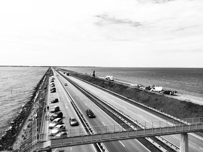Bnw_friday_eyeemchallenge Vanishing Point Blackandwhite Black & White Black And White Photography On The Road Horizon Over Water Netherlands