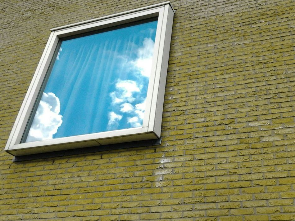 Looking for the best point of view to catch this heavenly curtain. Window Low Angle View Close-up Outdoors Sky Cloud - Sky Building Exterior Dutchstyle Streetview Modern Architecture Built Structure Pattern Everywhere EyeEm Gallery Minimalobsession The Week On Eyem Mobilephotography Galaxys3Utrecht , Netherlands Utrecht
