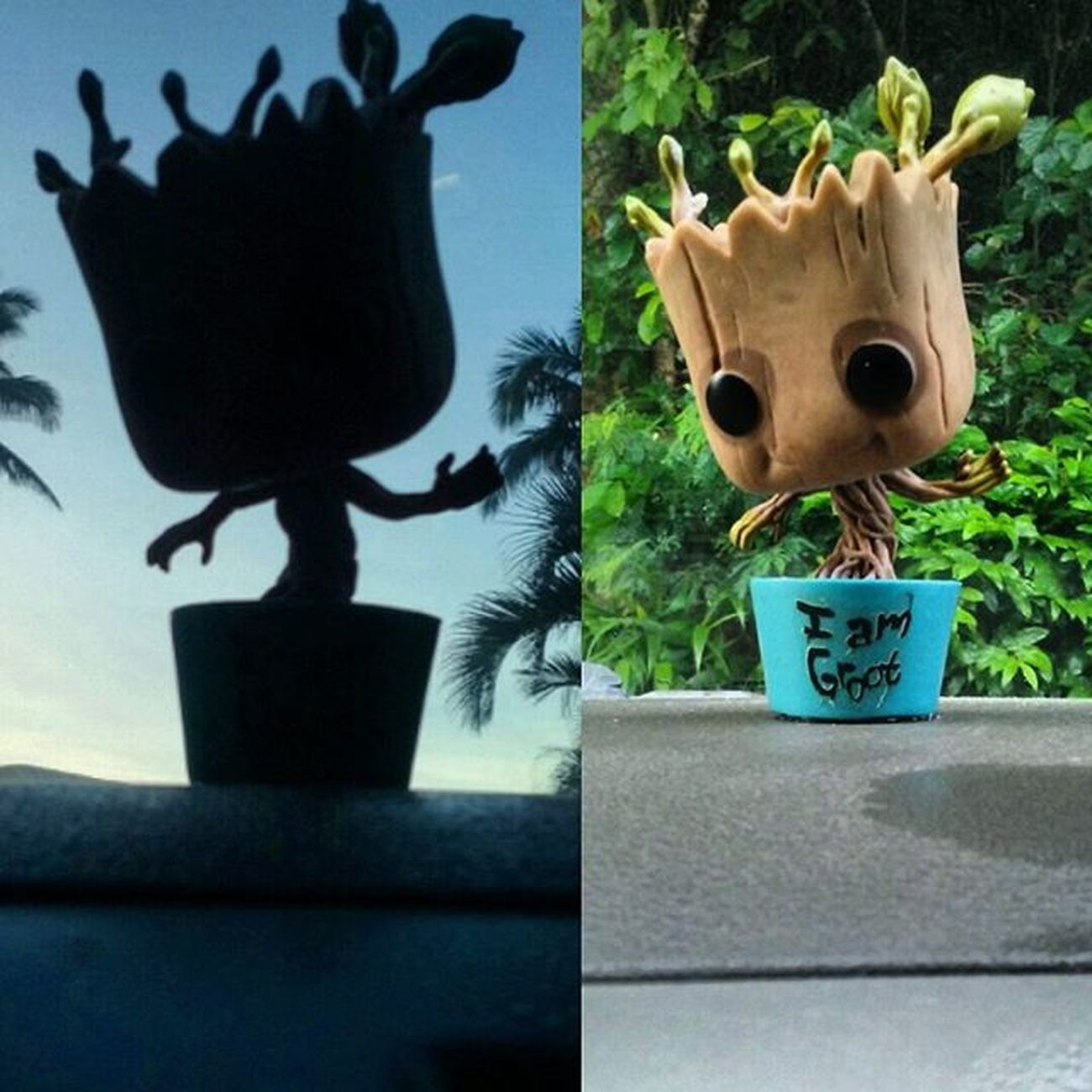 Adventures of Groot! IamGroot Morning Shenanigans Epichi Sunrise Randomness Silhouette Selfiegamestrong