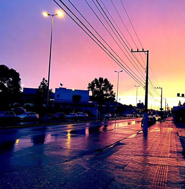 Beautiful color contrast from sunset Taking Photos Sunset Colorful Purple Enjoying Life Check This Out Nofilter