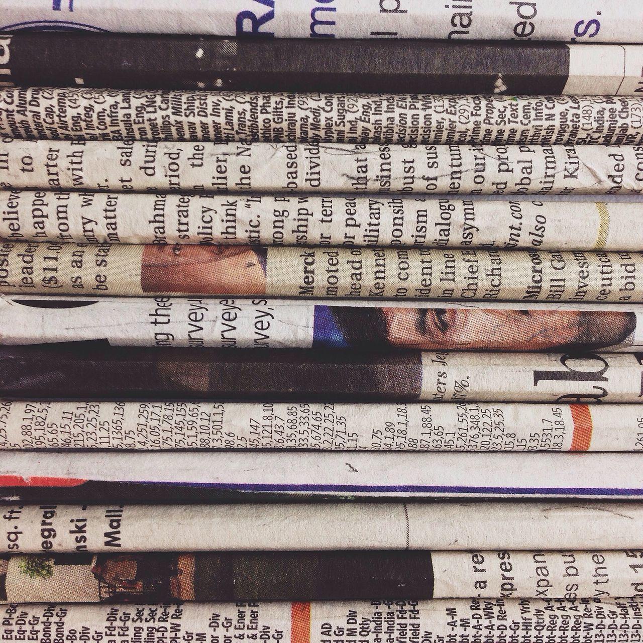 Beautiful stock photos of newspaper, Abundance, Communication, Full Frame, Information