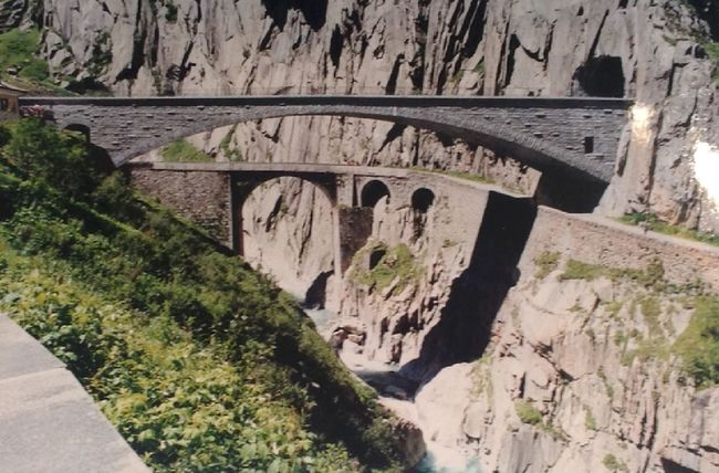 Arch Bridge - Man Made Structure Built Structure Called The Devil's Bridge Connection Located In SWITZERLAND Mountain No People Or Called Pont Du Diable Outdoors Rock Rock - Object Rock Formation Water