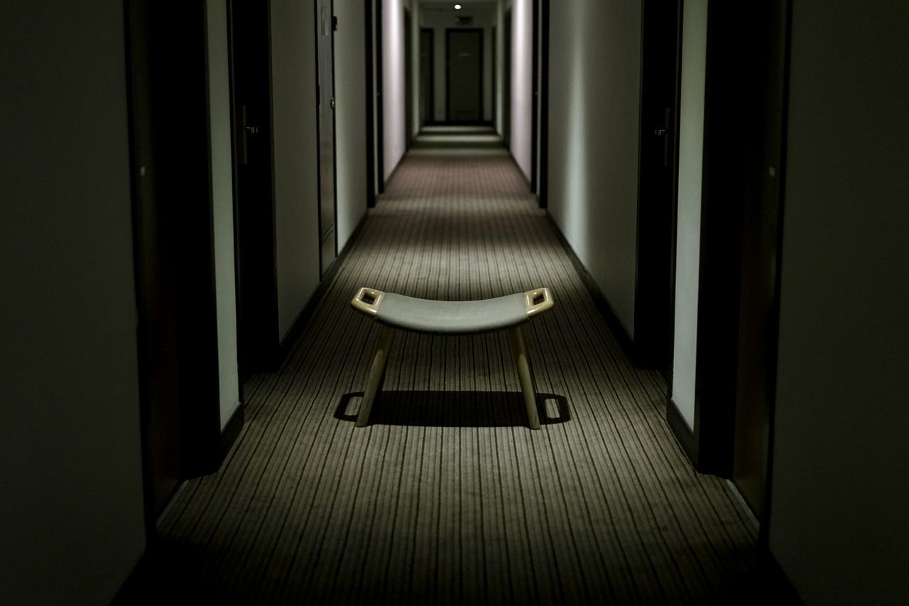 indoors, absence, door, empty, the way forward, illuminated, no people, architecture, day