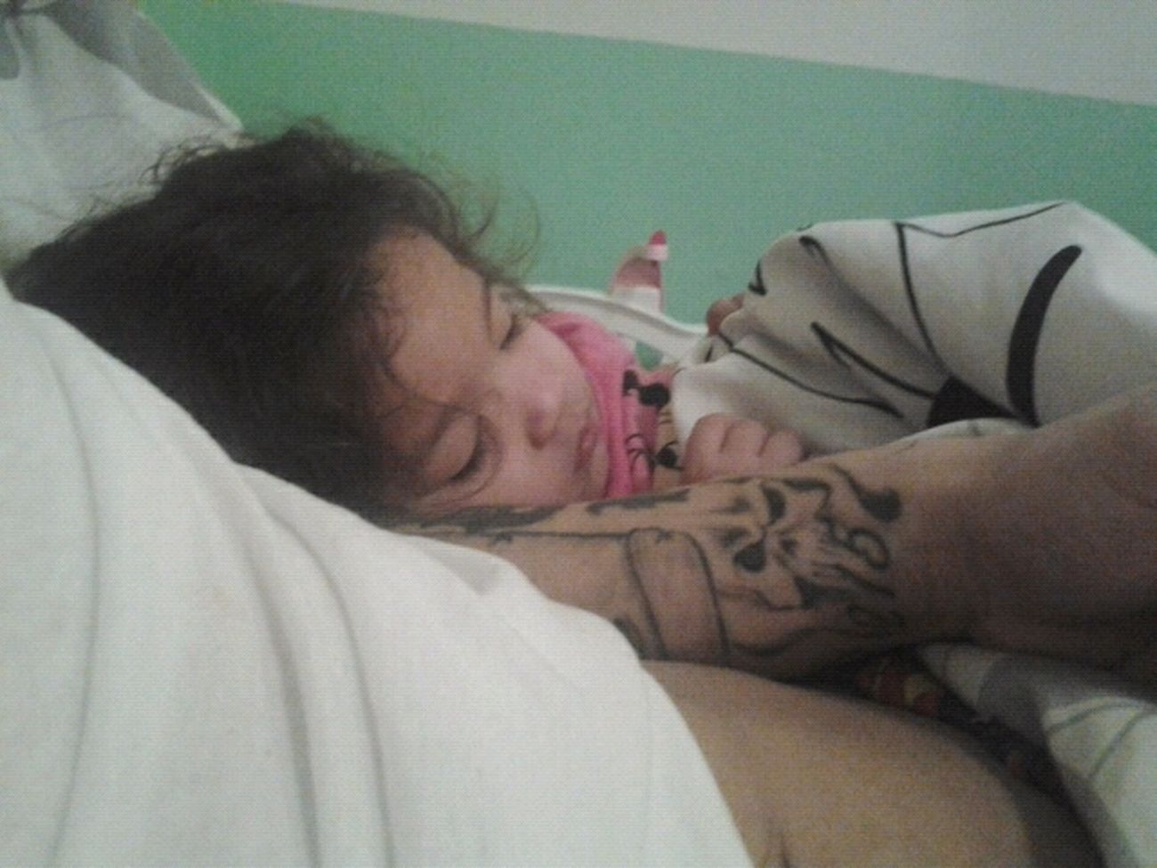 My Baby Girl Sleeping On Daddys Arm :-)