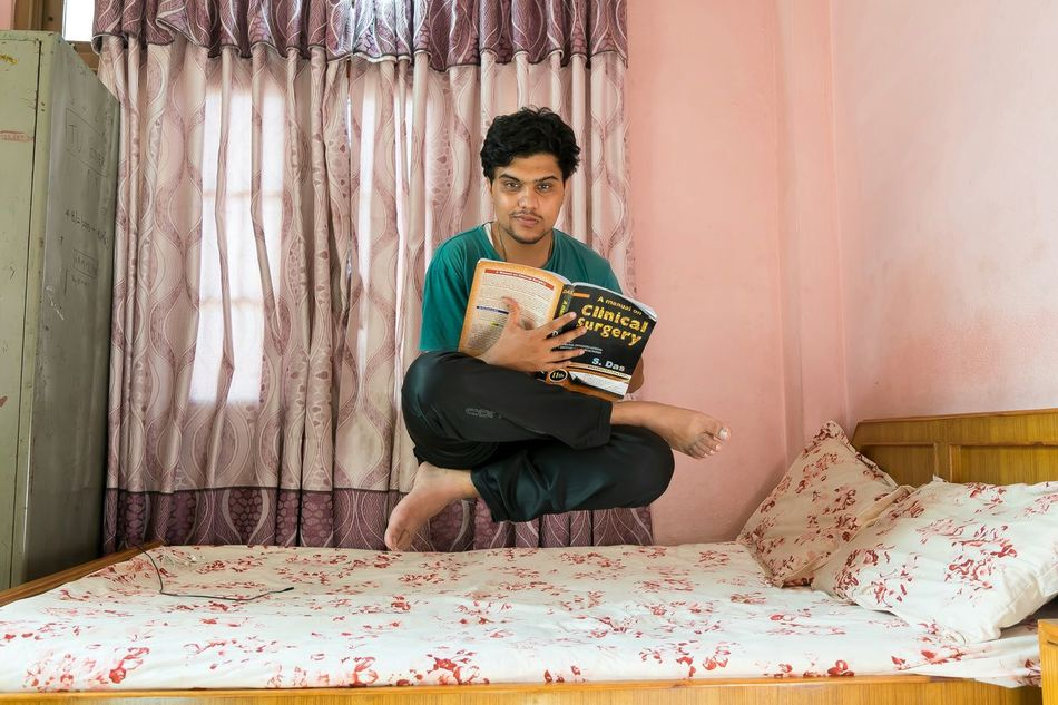 """The power of knowledge..... Studying """" A manual on Clinical Surgery - S. Das"""" ... Taking Photos Relaxing Photography Levitation Photography Juststarting Surgery Doctor  Studying Trick Photography"""