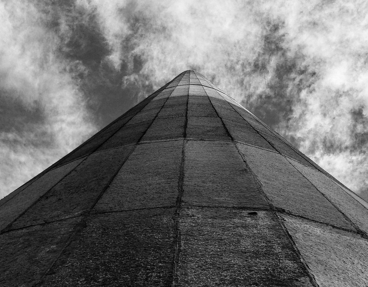 Architectural Looking Up Built Structure Architecture Sky Building Exterior Cloud - Sky Low Angle View Outdoors Day No People Bw_ Collection Black And White Bw_collection Monochrome Bw BW Collection Monochrome Photography Monochrome _ Collection
