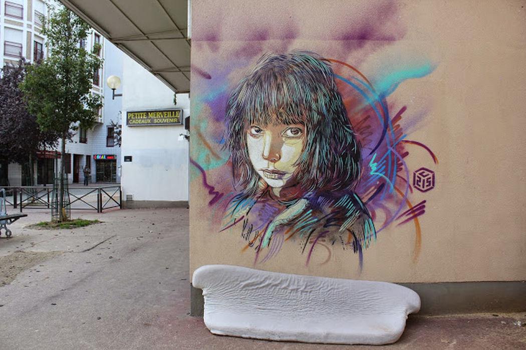 Porte d'Ivry Streetart C215 Paris ❤