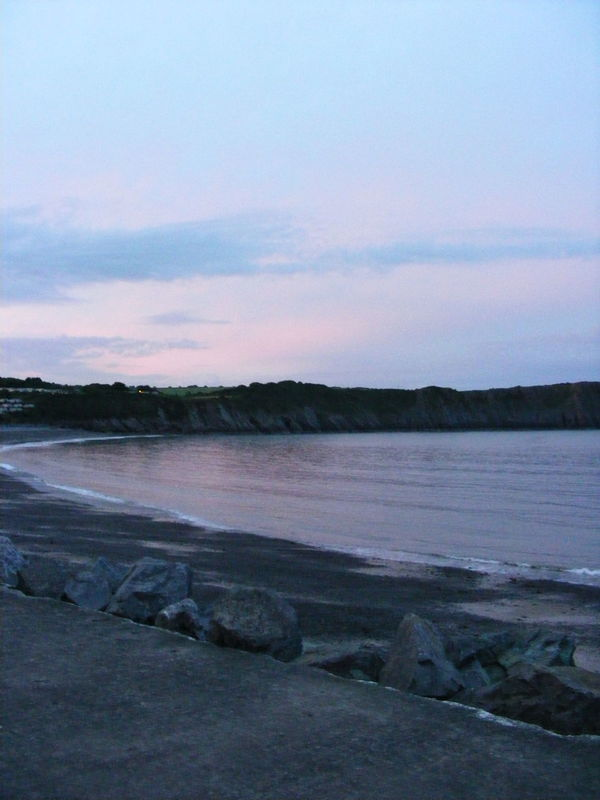 Beach Beach Cove Beauty In Nature Cove Landscape Nature Outdoors Scenics Sky South Wales Coast Sunset Tenby Tenby, Pembrokshire Tranquil Scene Tranquility Wales Water