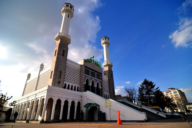 ! Architecture Blue Cloud Cloudy Culture Day Exterior Façade Iteawon Low Angle View Mosk Sky