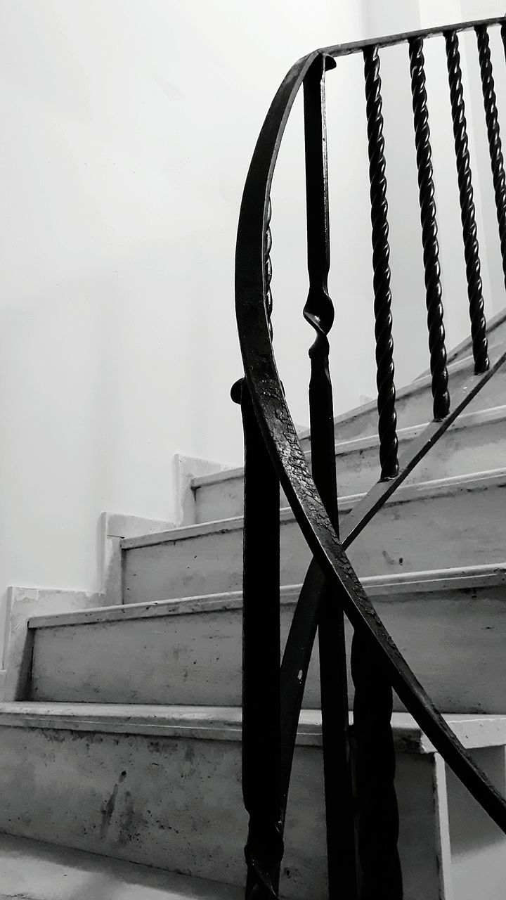 staircase, steps and staircases, steps, railing, indoors, no people, architecture, day, close-up, hand rail