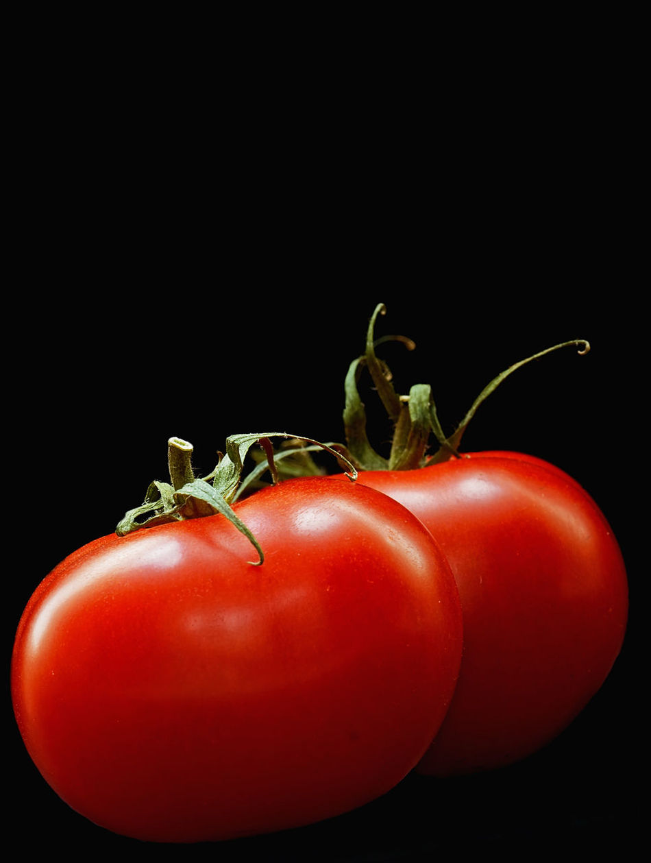 Black Background Close-up Food Food And Drink Freshness Healthy Eating Indoors  No People Raw Food Red Red Bell Pepper Still Life Studio Shot Tomato Vegetable