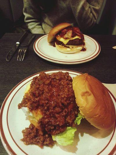 우하하?? With Bestfriend Hamburger Smokeysaloon Food