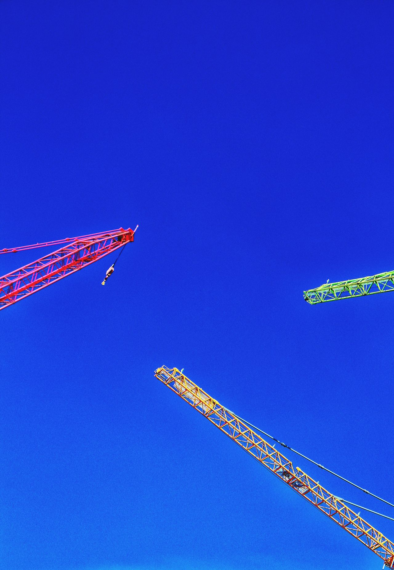 Blue Blue Sky Cranes Crane - Construction Machinery Cranespotting Cranes And Construction Cranes Construction Construction Site Fresh Produce Red Crane Green Crane Yellow Crane Triangular Colors Colorful Colorsplash Color Explosion Colors Of Autumn Fresh On Eyeem  Hello World Check This Out Bluesky Triple Triangle