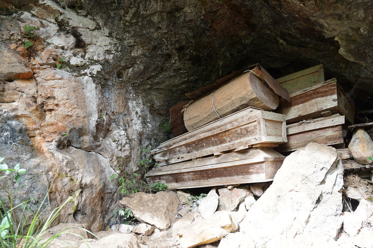 Caskets Coffins  Coffins In Cave Old Coffins Stacked Coffins Wooden Casket Wooden Casket In Cave Wooden Coffin