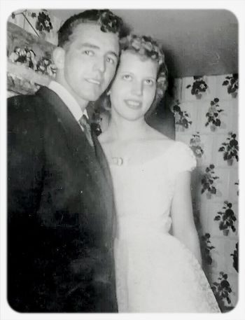 my grandfather and grandmother on their wedding day :) True Love My Grandparents