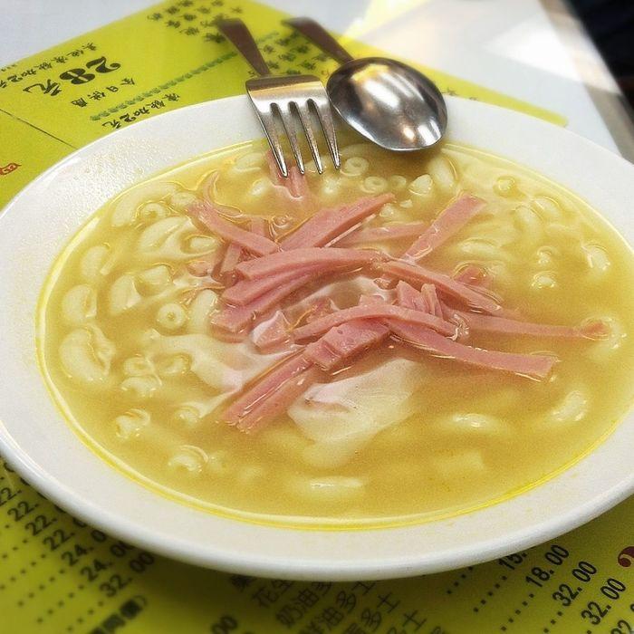 HKFood Macaroni Ham Macaroni And Ham Breakfast The Foodie - 2015 EyeEm Awards Time For Breakfast
