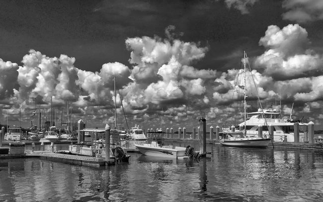Marina VividHDR Iphone 6 Clouds And Sky Black And White