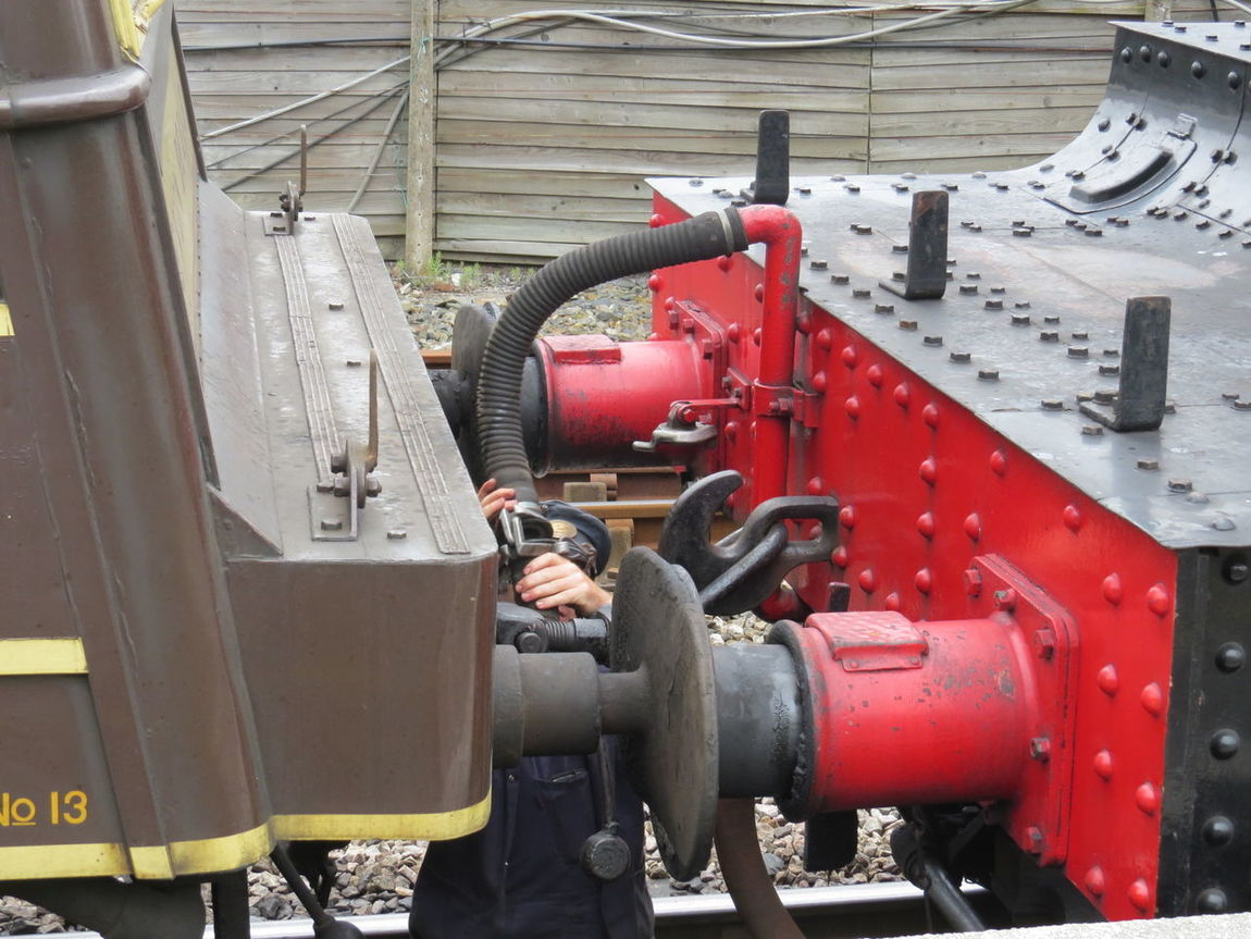 Buffers Day No People Outdoors Railway Red Steam Engine Steam Engine Detail