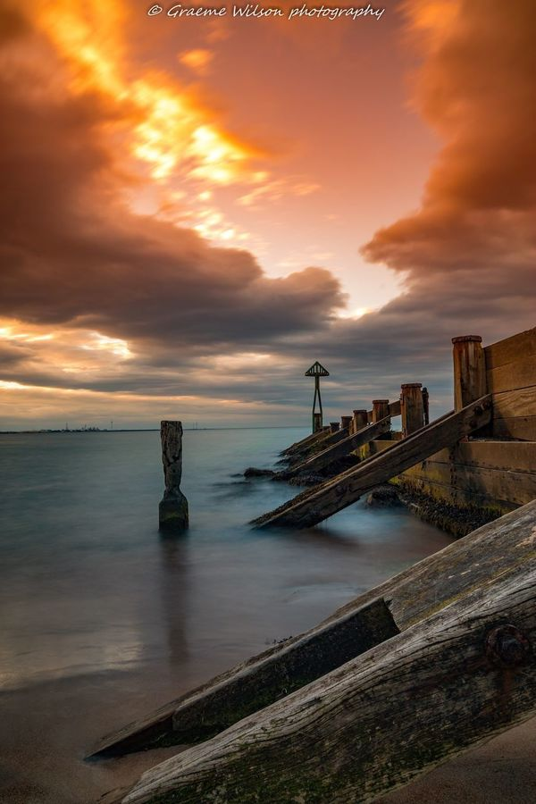 The Groyne Water Sea Sky Sunset Scenics Nature Cloud - Sky Beauty In Nature Horizon Over Water Outdoors Tranquility Canon Seaton Sluce Northumberland