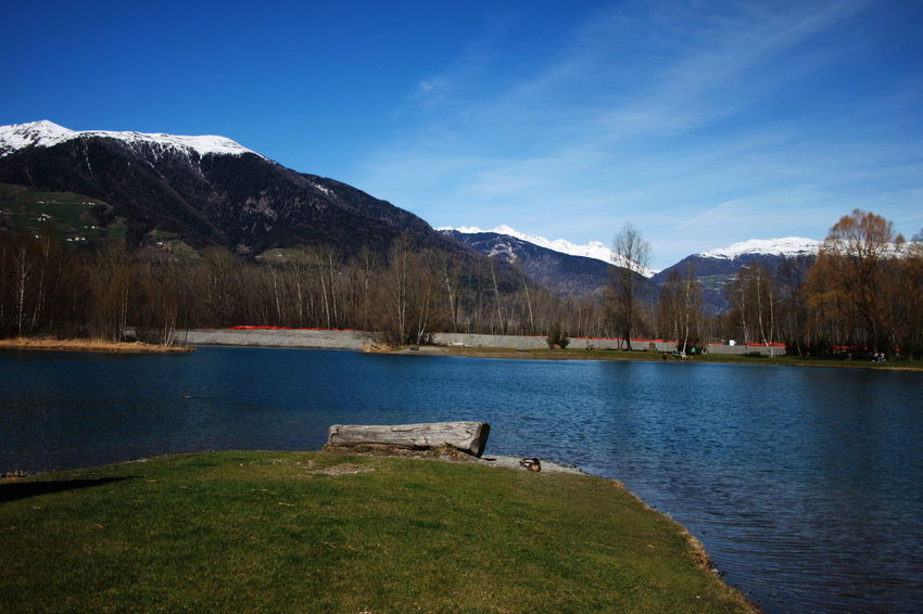 Südtirol April 2015 Beauty In Nature Blue Day Grass Italy Lake Landscape Mountain Mountain Range Nature Outdoors Scenics Sky Tranquil Scene Tranquility Tree Vinschgauer Oberland Water