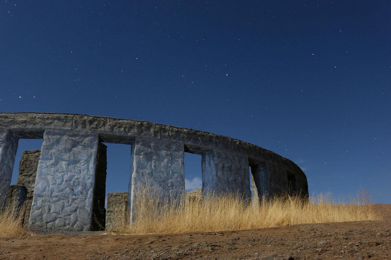 Columbia River Gorge Night Oregon Photography Sculpture Stone StoneHedge Textured