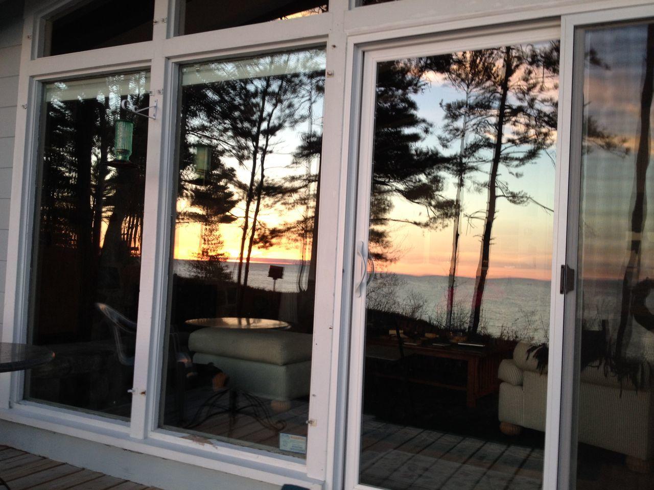 Window Sun Set Architecture Day Indoors  Nature No People Open Door Sky Sliding Door Sunset Tree Water Window