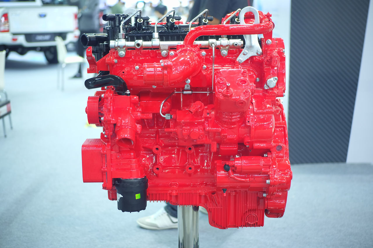 engine show in Thailand motor expo 2016 Close-up Closeup Engine Event Exibition Exibition Hall Hall Machine Motor Present Red Show Thailand Motor Expo 2016 Truck Engine