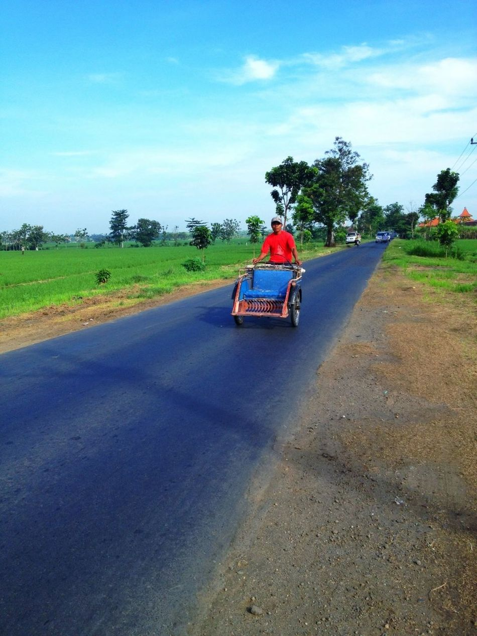 Becak is Indonesian traditional transportation