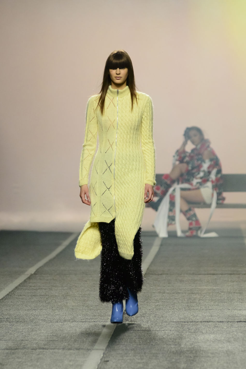 Maria Ke Fisherman during Mercedes Benz Fashion Week Autumn-Winter 2016 in Madrid. Clothes Editorial  Editorial Fashion Fashion Fashion Fashion Week Front View Lifestyles Mbfw Mbfw2016 Mbfwmadrid Mercedes Benz Fashion Week Model Person Real People Standing Young Women