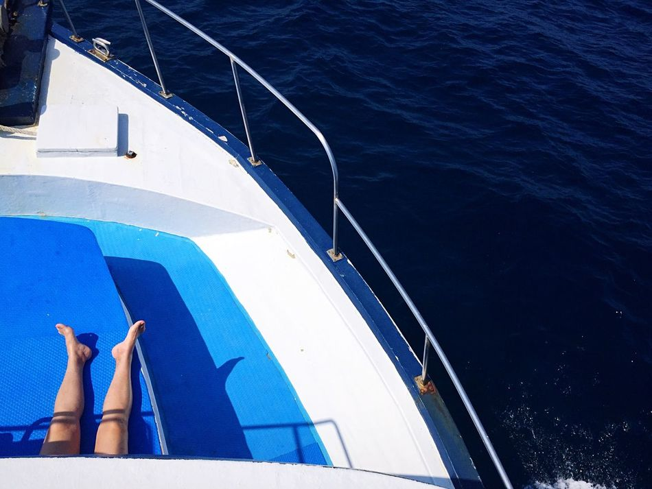 Beautiful stock photos of ocean, Barefoot, Blue, Boat Deck, Carefree
