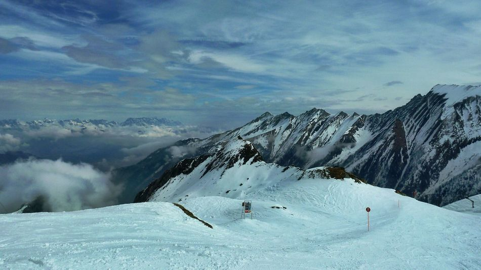 Mountain Nature Snow Cloud - Sky Mountain Range Winter Scenics Sky Beauty In Nature Ski Slope Up In Clouds Somewhere Over The Rainbow Nature Winter Snowcapped Mountain Outdoors Austrian Alps 3XSPUnity Perspectives On Nature