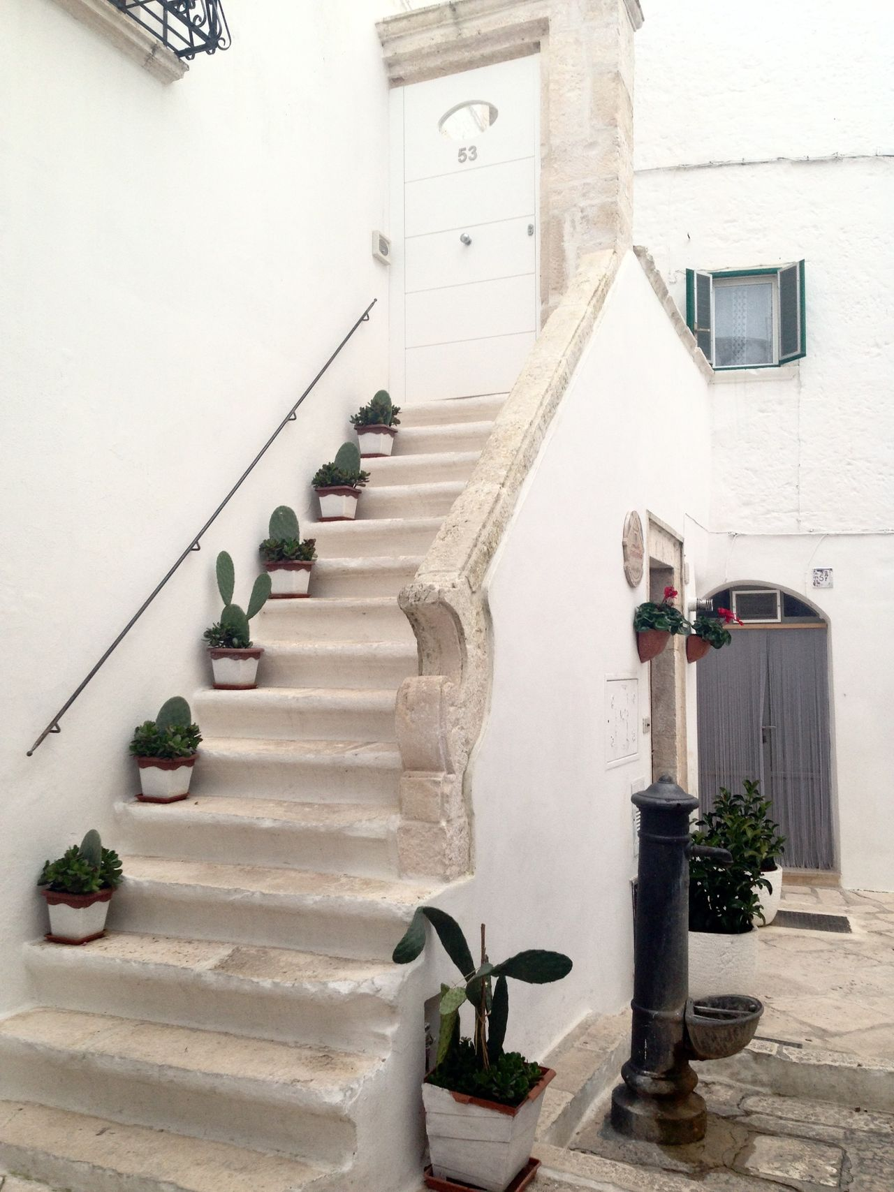 Locorotondo Cityscape Italy Sud Beautiful View Stairs_steps Stairs