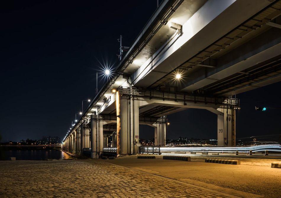 Hanriver Hanriverpark Bridge Korea Seoul Night Photography Night Lights Night Nightshot Lightsign