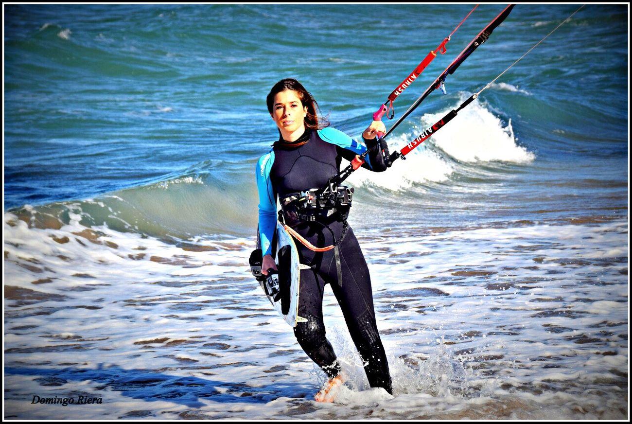Kitesurfing Flying A Kite On The Beach Life Is A Beach (null)