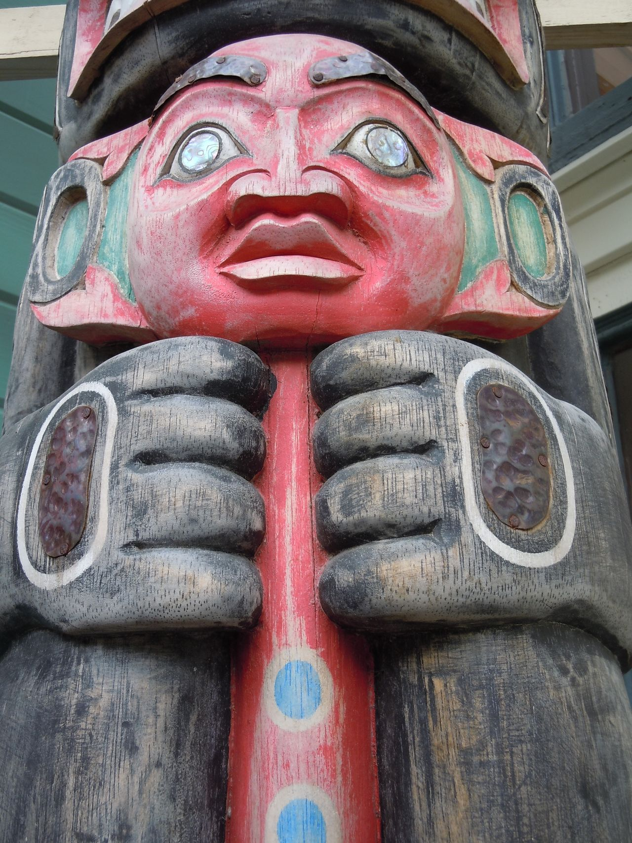 Totems in Alaska Alaska Carving - Craft Product Sculpture Statue Totem Totems Wooden Indian