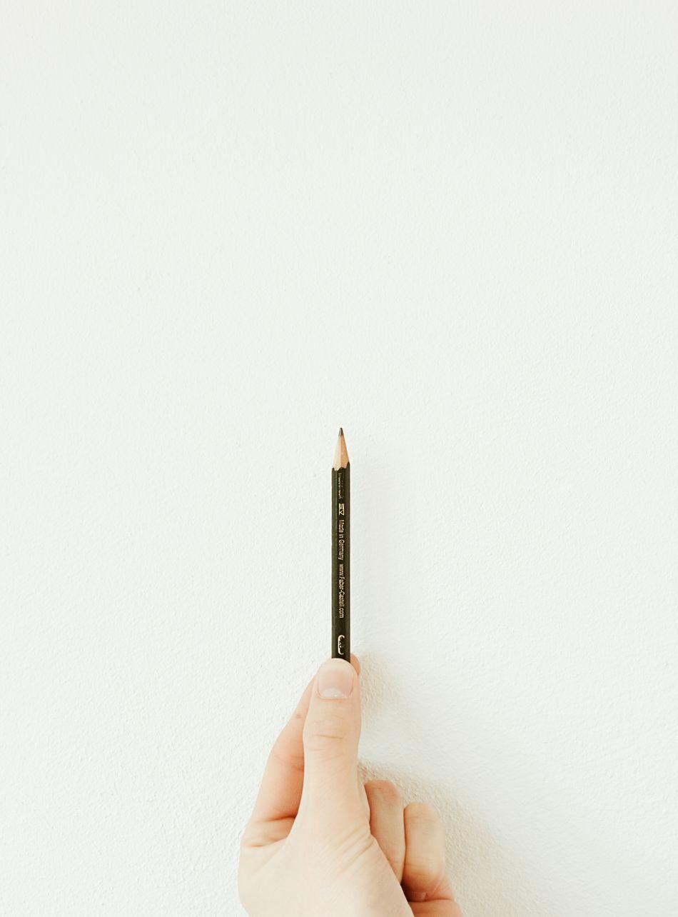 Beautiful stock photos of pencil, Close-Up, Copy Space, Holding, Human Finger