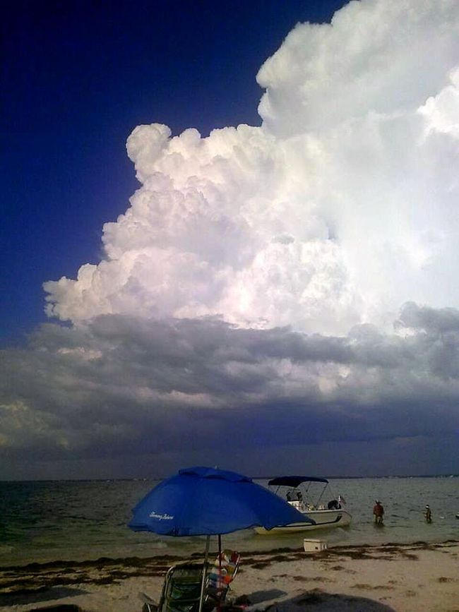 ...Here It Comes!!!! Beauty In Nature Cloud - Sky Contrasting Colors Contrasting Skies Island Storm Majestic Nature Ominousclouds Sky Storm Cloud Taken On Mobile Device Three Rooker Island, F Wind Blue Wave