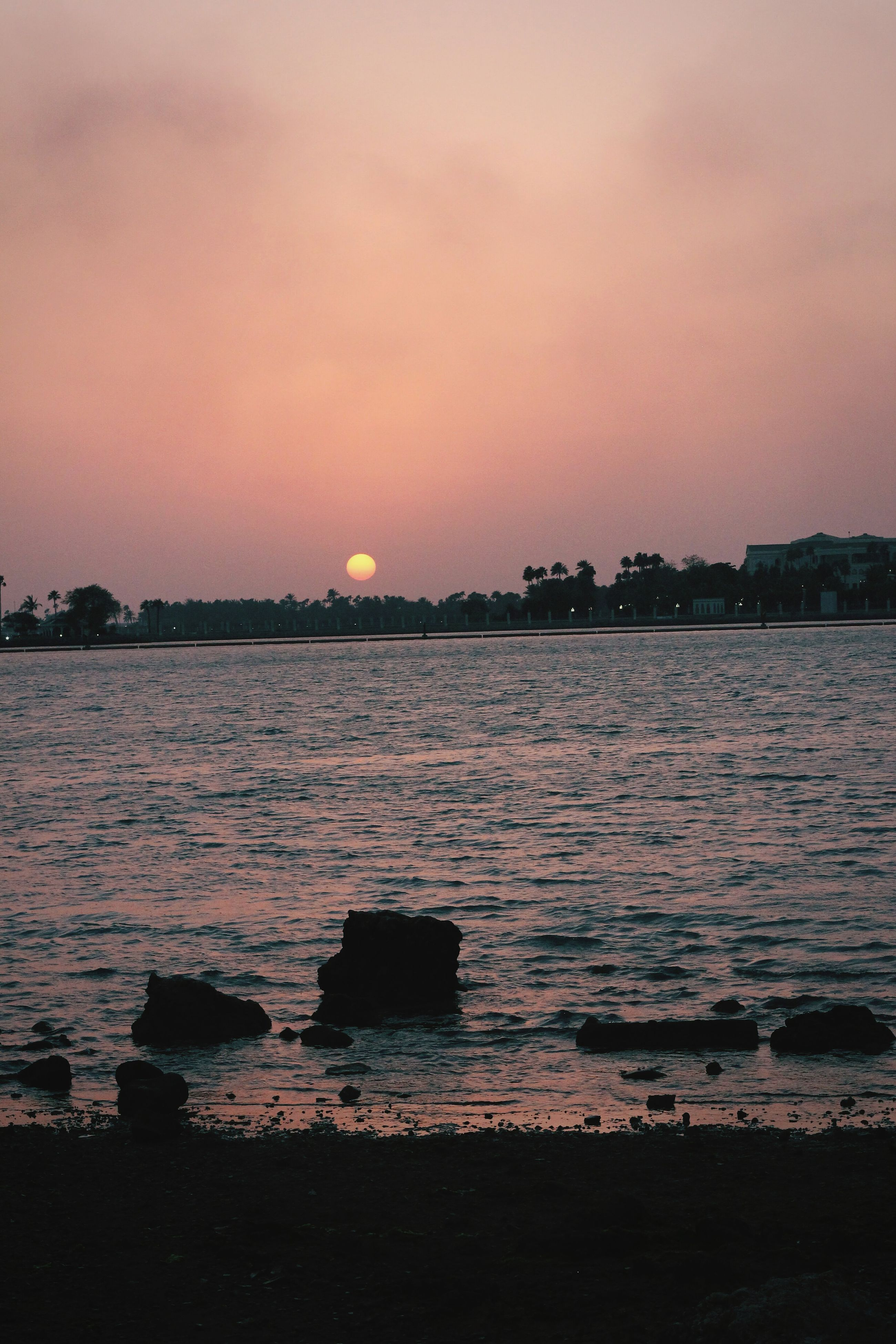 sunset, beauty in nature, nature, water, scenics, sun, sea, tranquility, no people, outdoors, tranquil scene, sky, day