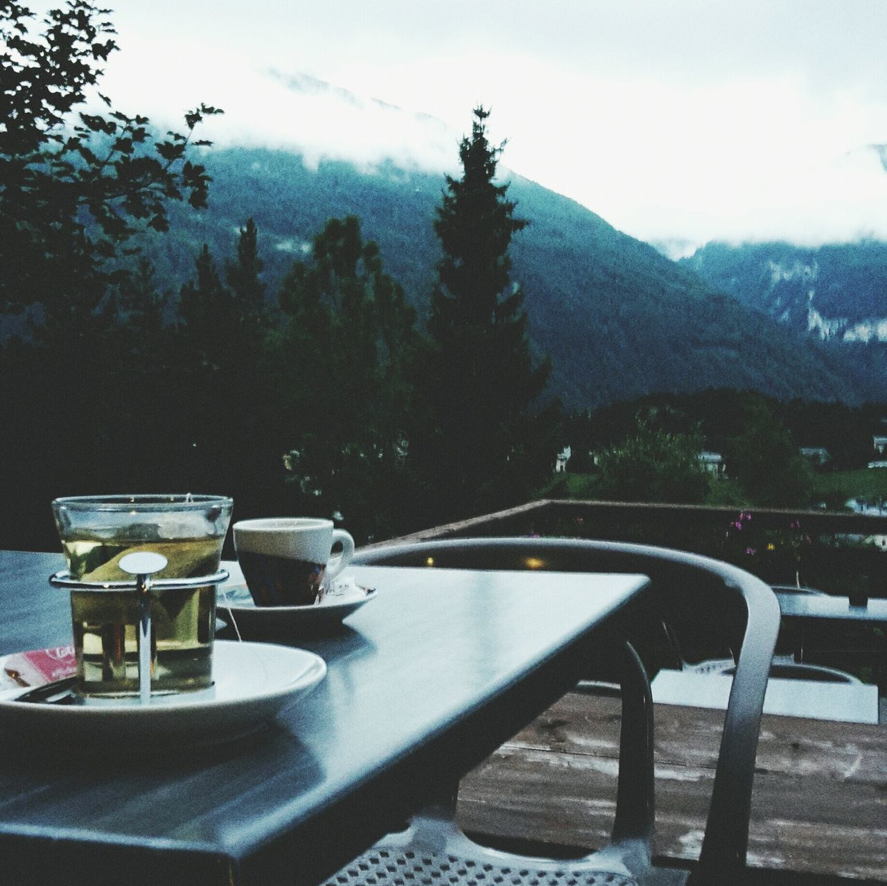 Mountain Teatime Peaceful And Quiet It's Cold Outside Enjoying Life