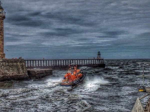 Sea Lifeboat RNLI Water Harbour Entrance