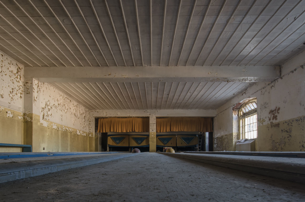 Beautiful stock photos of bowling, Abandoned, Architecture, Bowling Alley, Built Structure