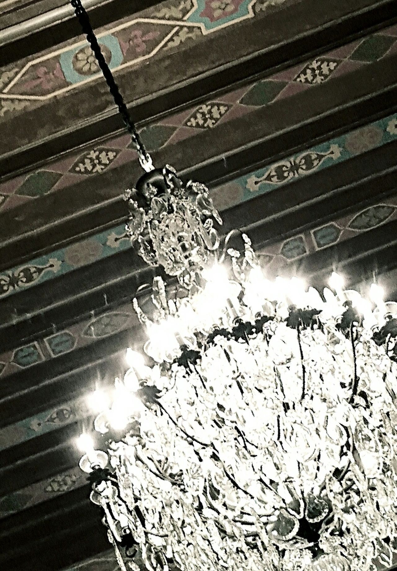 Architectural Feature Architecture Built Structure Chandelier Close-up Day Decoration Design Directly Below Glowing Illuminated Lighting Equipment Low Angle View No People Ornate Sun Sunbeam Swinging Chandelier