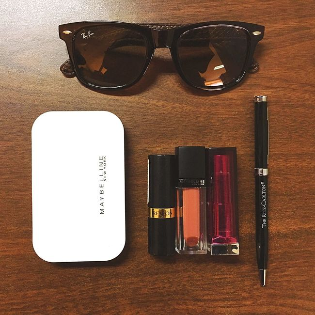 Survival kit lol Fridays Makeup Maybellinenewyork Iphonephotography Revlon Lipstick
